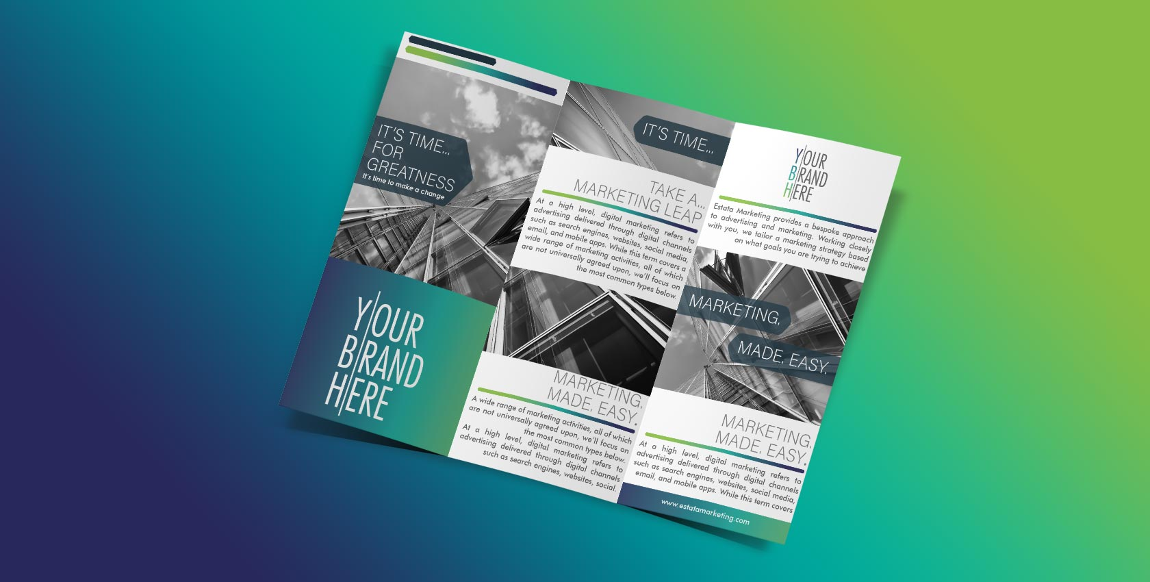 Estata Marketing Creates Leaflets and Print Productions with Graphic Design